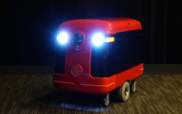 zmp robotics sushi delivering robot